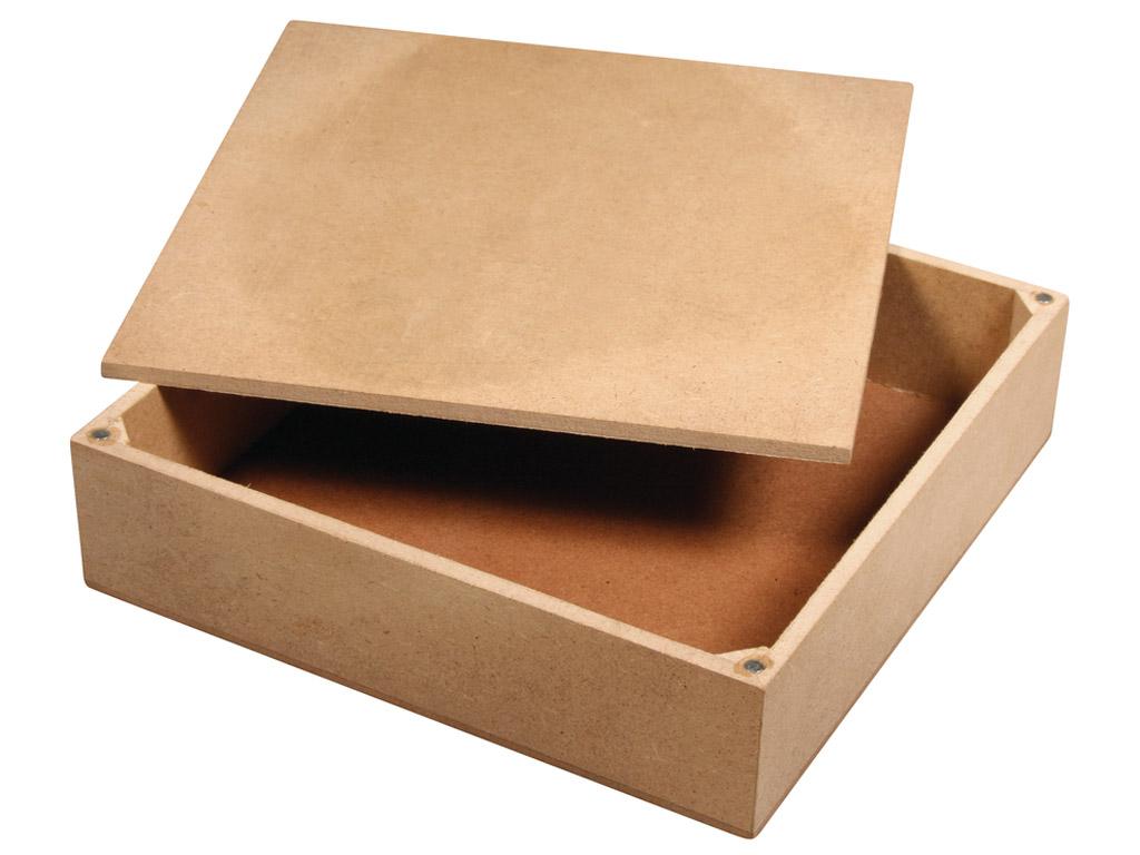 MDF dėžutė Rayher 17x17x4.5cm su dengteliu su 4 magnetais