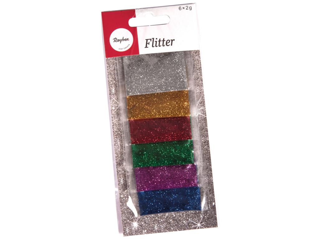 Blizgučiai Rayher 6x2g 6 spalvų įvairi