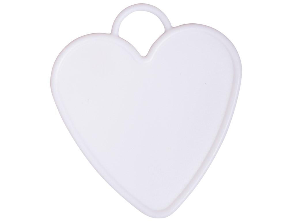 Baliono svarelis Rayher širdis 7.7x8.7cm 6vnt. balta