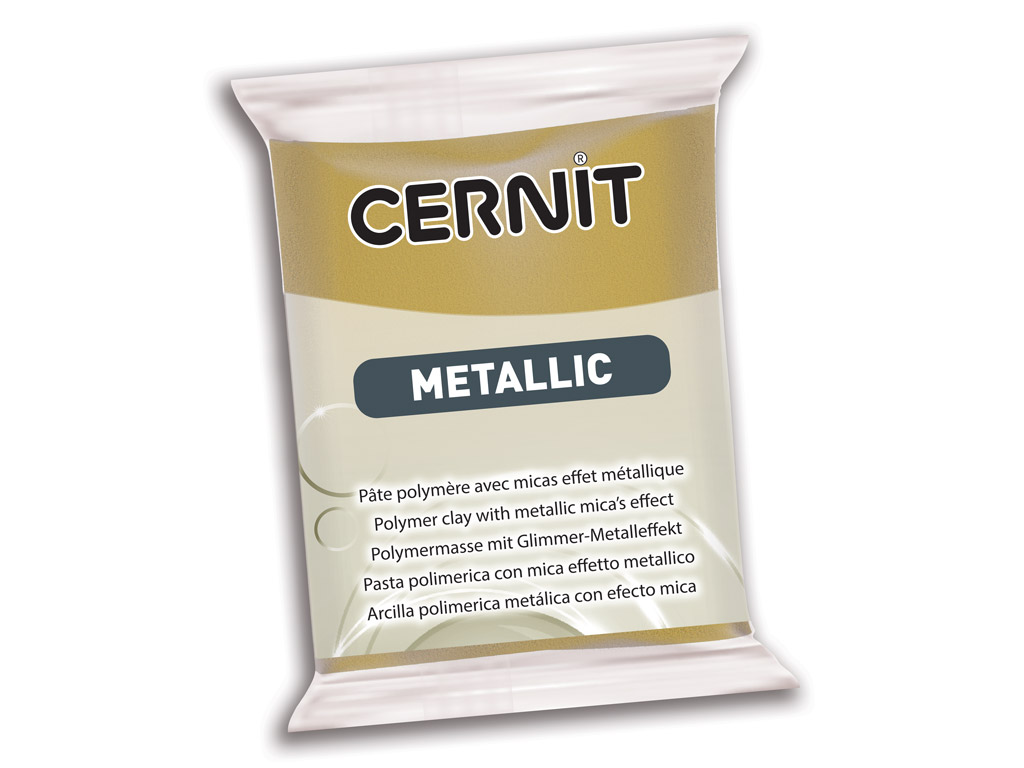 Polümeersavi Cernit Metallic 56g 055 antique gold