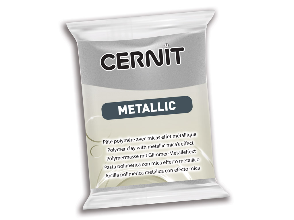 Polümeersavi Cernit Metallic 56g 080 silver