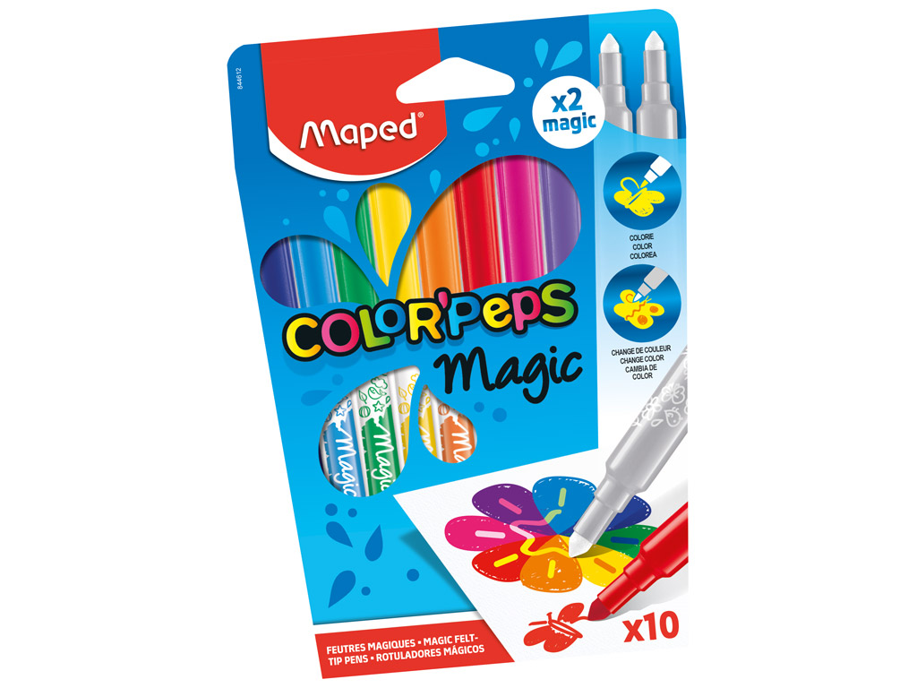 Flomasteris ColorPeps Magic 10vnt.