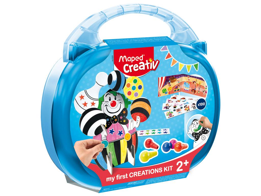 Meistravimo komplektas Maped Creativ Early Age Circus lagaminėlyje