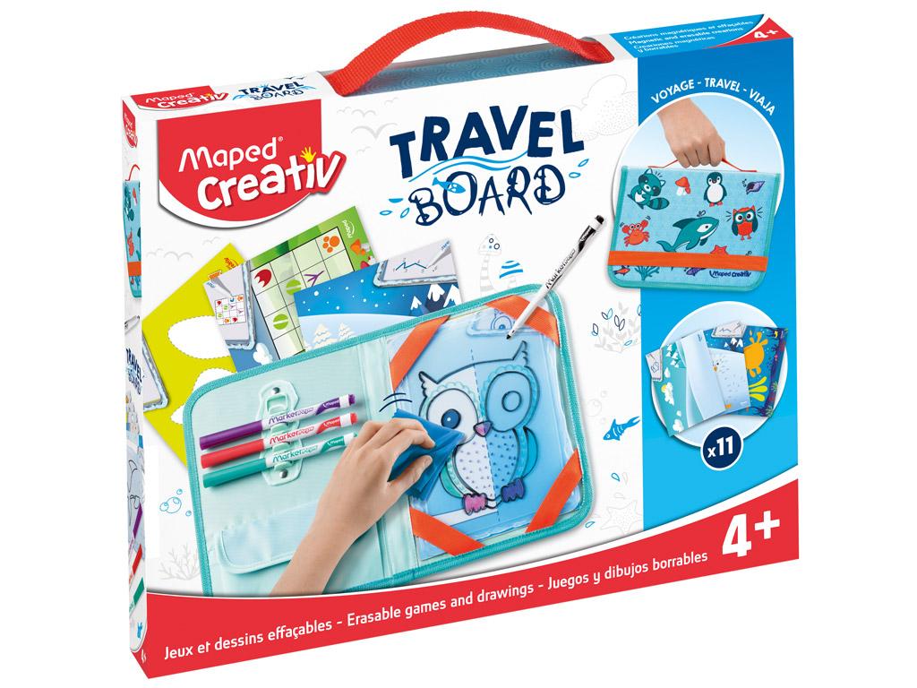 Piešimo rinkinys su lenta Maped Creativ Travel Board Animals