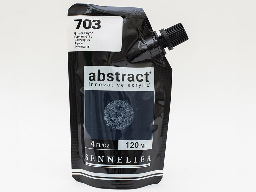 Acrylic colour Abstract 120ml 703 payne's grey