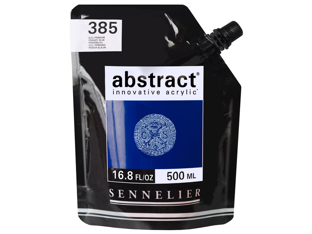 Acrylic colour Abstract 500ml 385 primary blue (P)