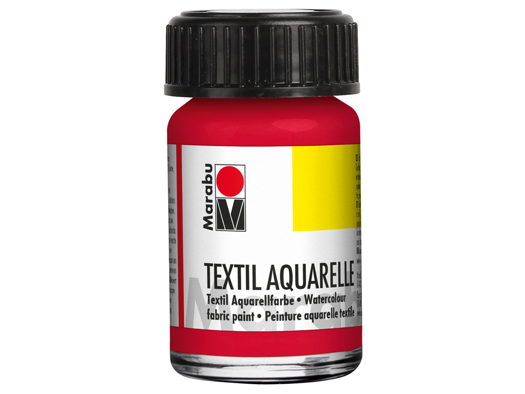 Fabric paint Textil Aquarelle 15ml 031 cherry red