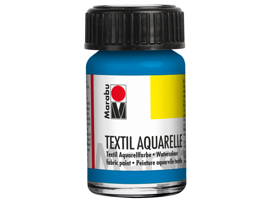 Fabric paint Textil Aquarelle 15ml 056 cyan