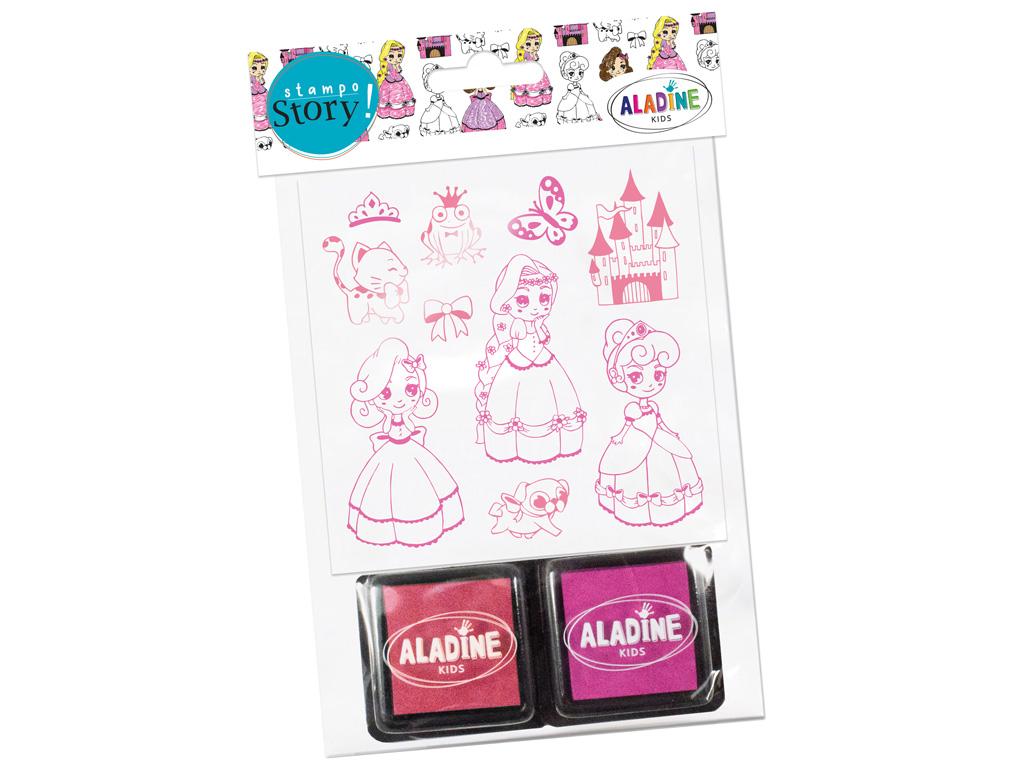 Tempel Aladine Stampo Story 10tk Princesses + 2 templipatja blistril