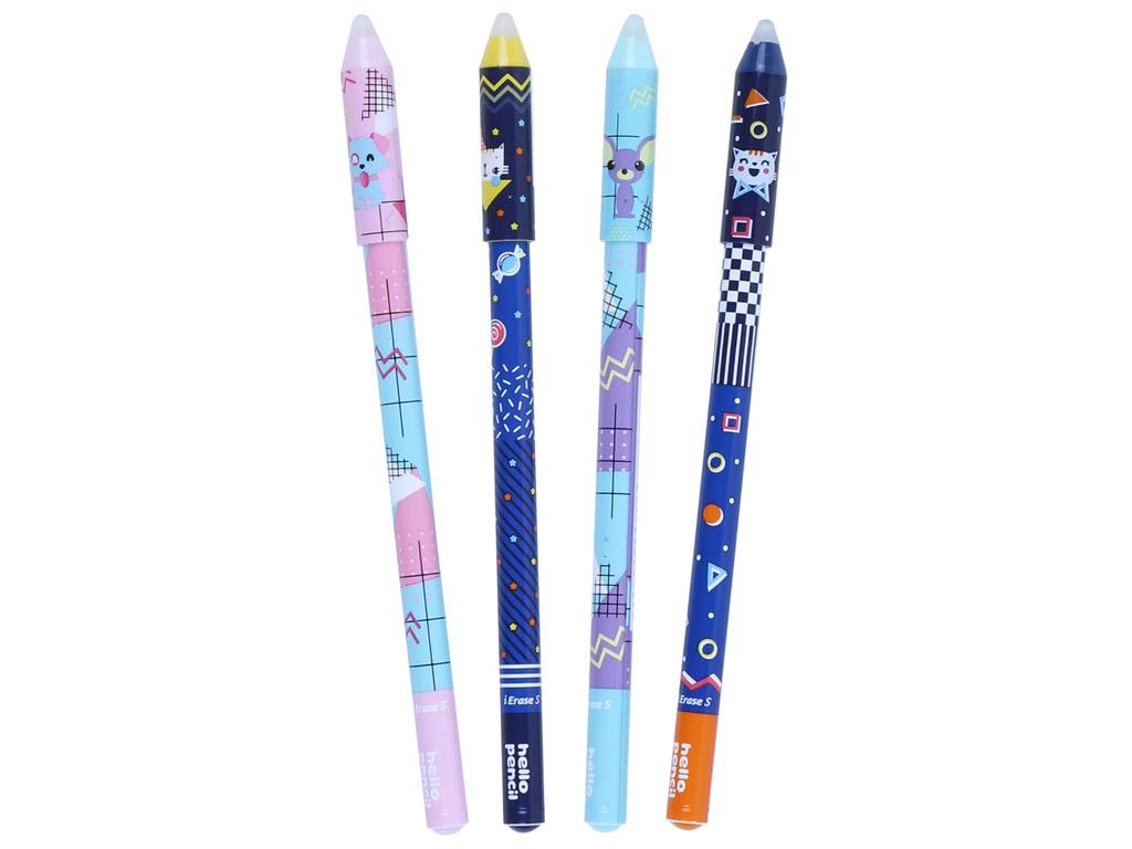 Gēla pildspalva izdzēšams M&G Hello Pencil 0.5 zila asorti