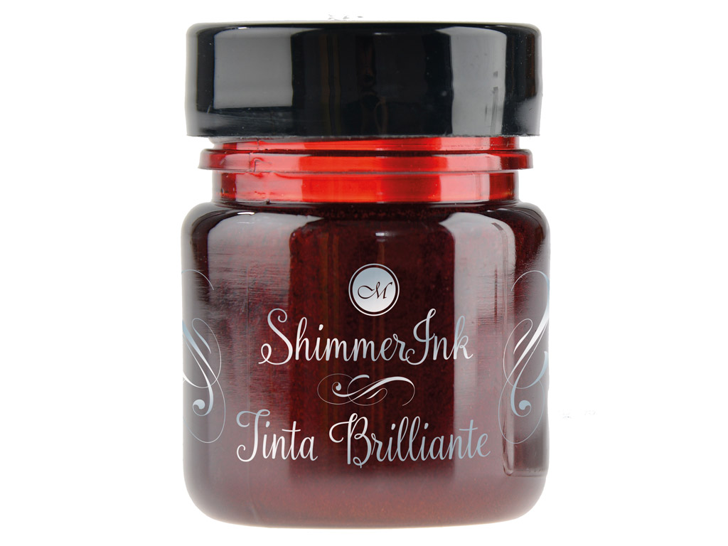 Kalligraafia tint Manuscript ShimmerInk 25ml brandy flambe