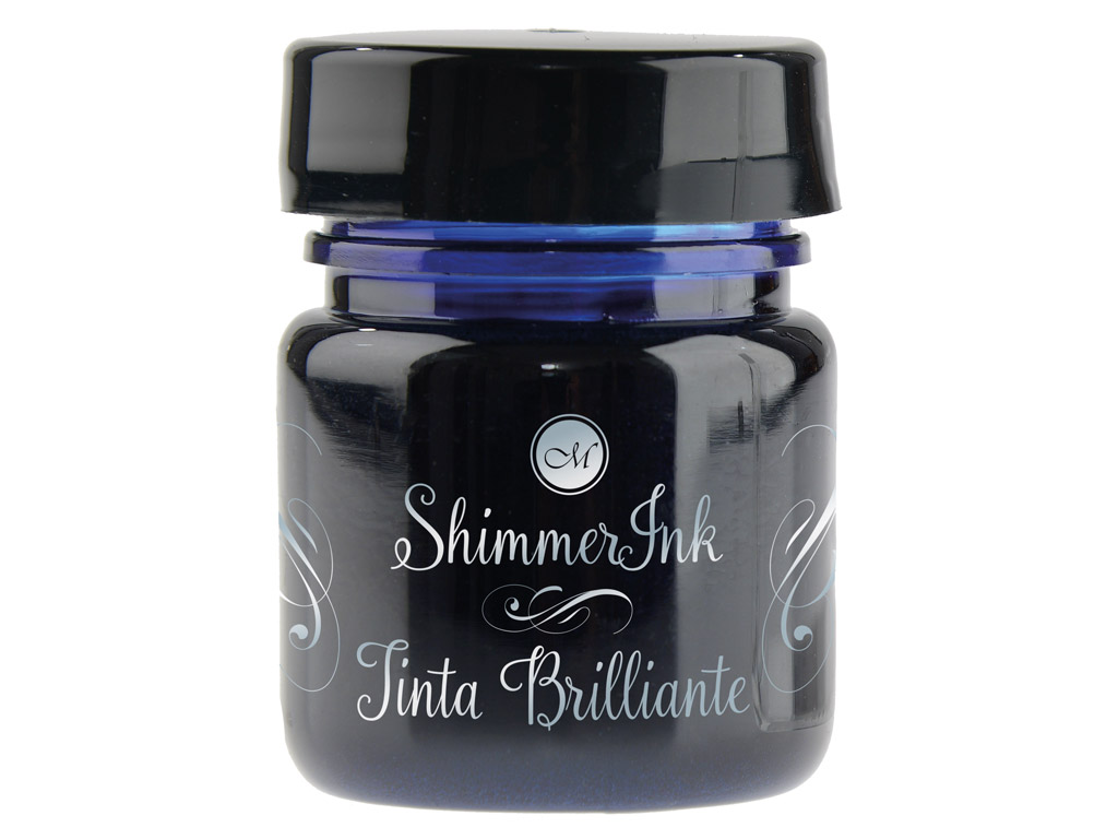 Kalligraafia tint Manuscript ShimmerInk 25ml cosmic blue