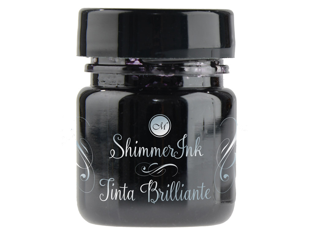 Kalligraafia tint Manuscript ShimmerInk 25ml black ice