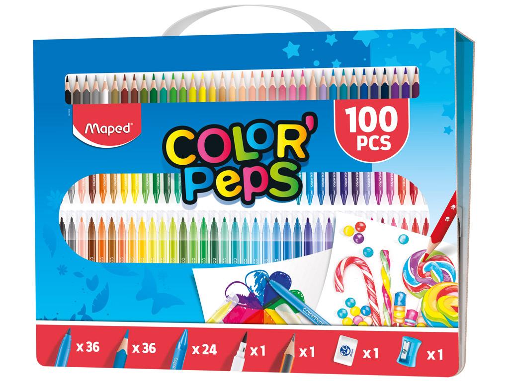 Piešimo reikmenų rinkinys ColorPeps 100vnt.