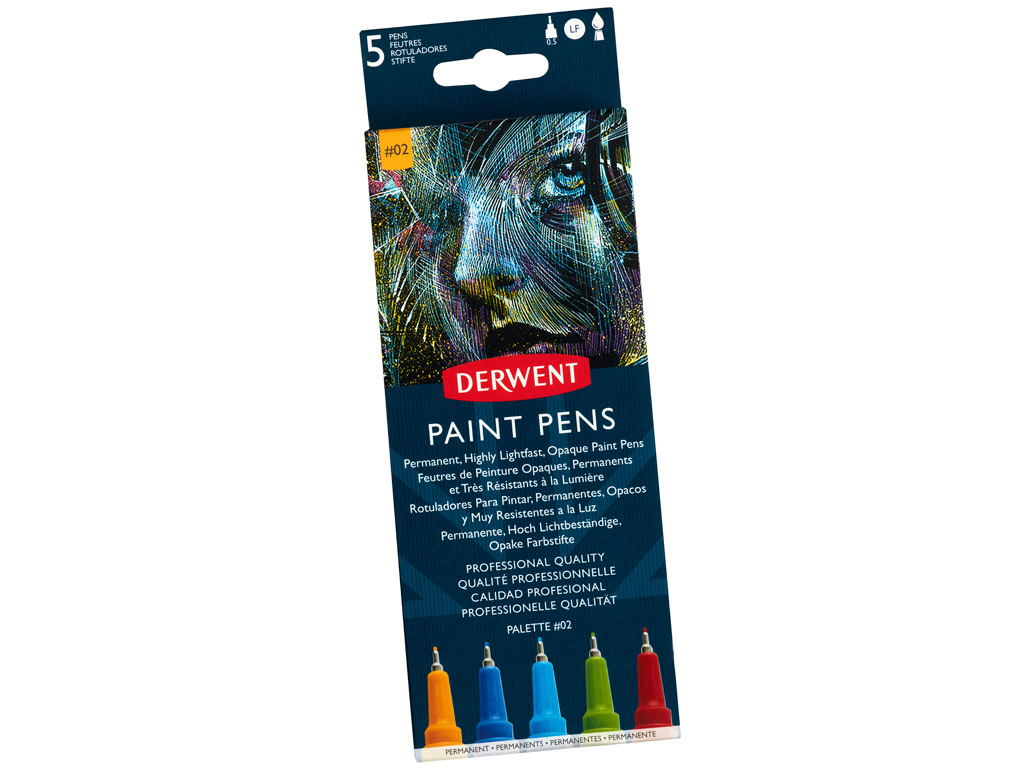 Marker Derwent Paint Pen 5tk Palette 2
