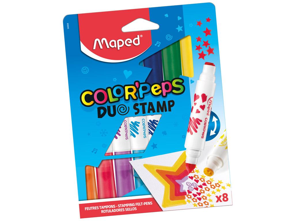 Viltpliiats ColorPeps Duo Stamp 8tk
