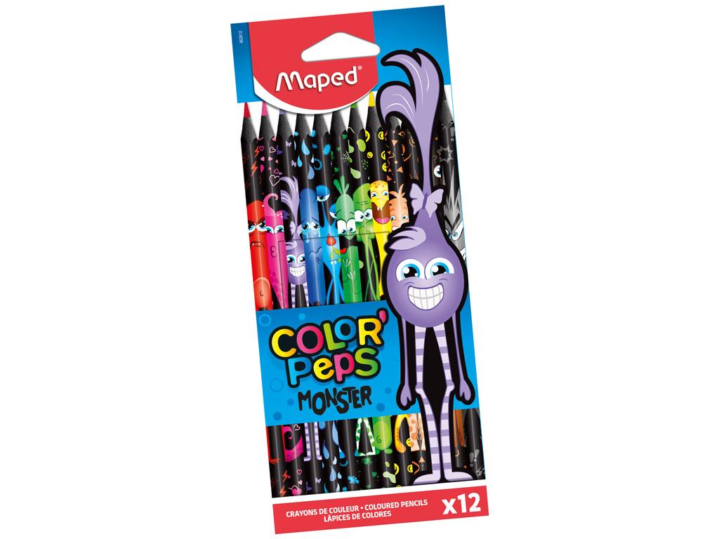 Krāsainais zīmulis ColorPeps Monster 12gab.