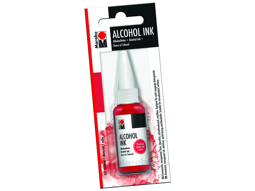 Alcohol ink Marabu 20ml 031 cherry red blister