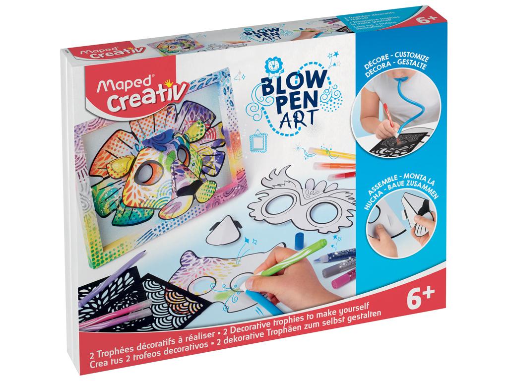 Pučiami flomasteriai komplektas Maped Creativ Blow Pen žvėreliai