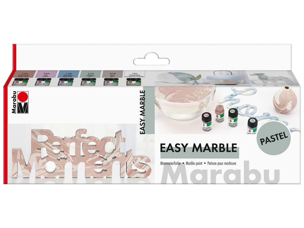 Dažai marmuriniam efektui sukurti 6x15ml Pastel