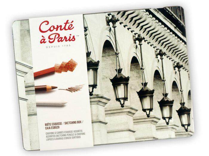 Eskizinių komplektas Conte a Paris Sketching metalinė dėžutė