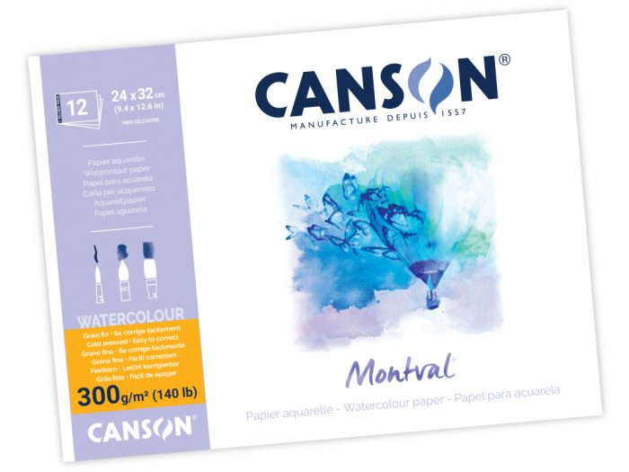 Akvarellplokk Canson Montval