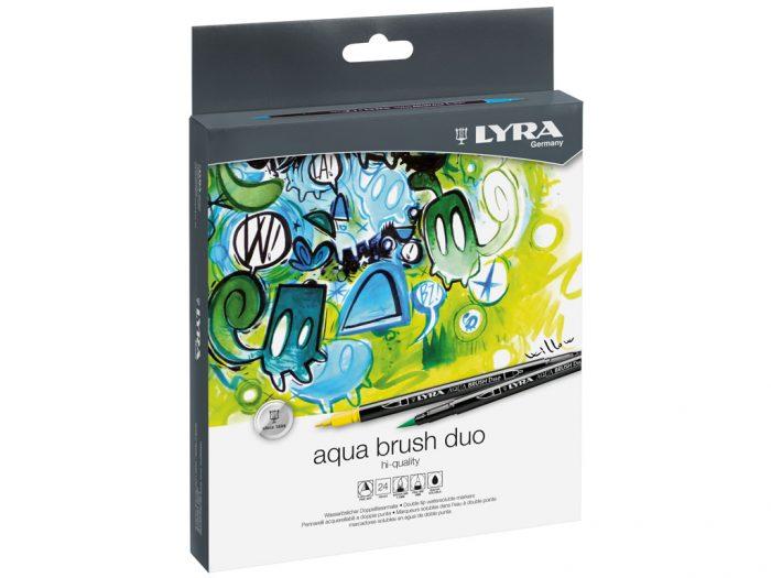 Viltpliiats Lyra Aqua Brush Duo komplekt - 1/2