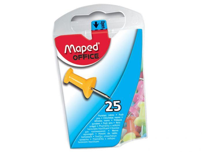 Piespraudes (korķa) tāfelēm Maped 10mm 25gab.