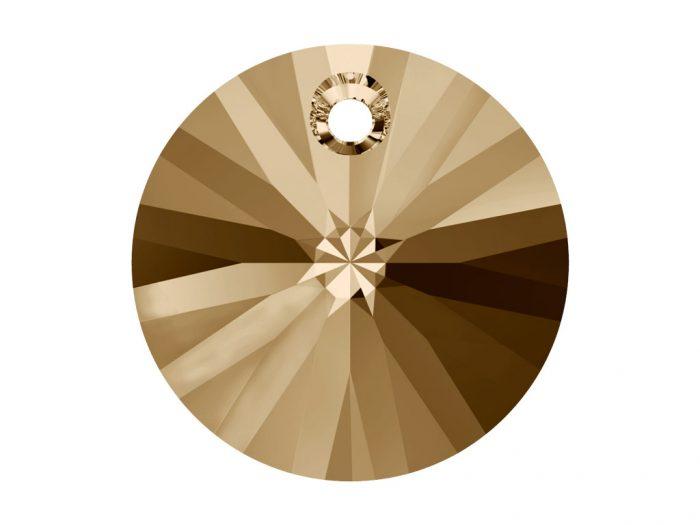 Crystal Pendant Swarovski round flat 6428 6mm - 1/2
