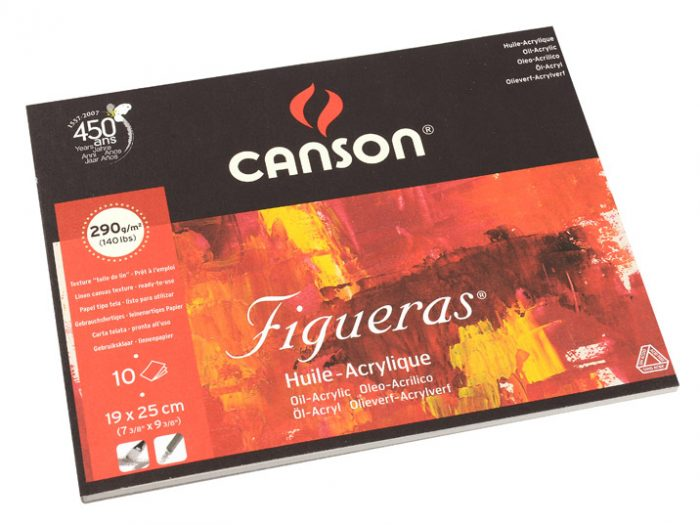Akrüüli-ja õlipaberiplokk Canson Figueras