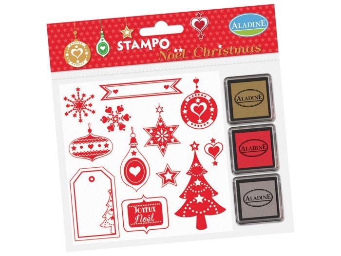 Antspaudų rinkinys Aladine Stampo Christmas