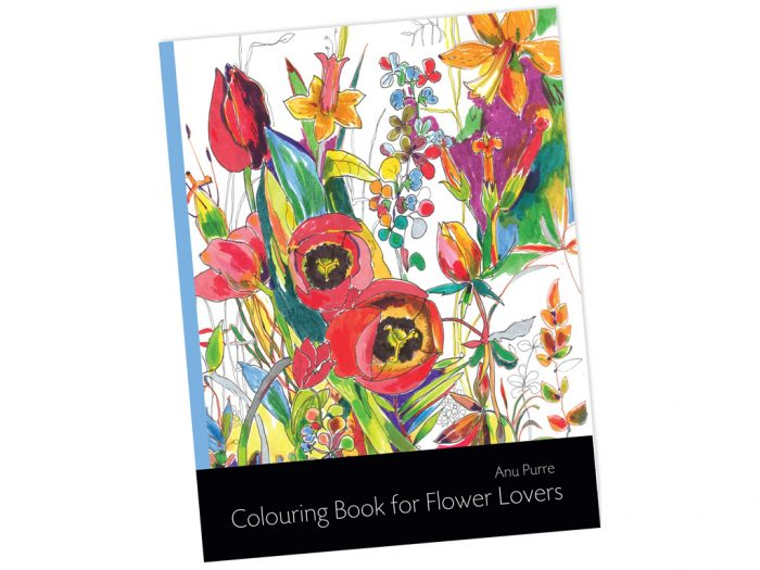 "Spalvinimo knyga ""Colouring Book for Flower Lovers"" - 1/2"