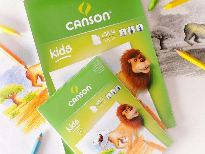Piešimo bloknotas Canson Kids 90g