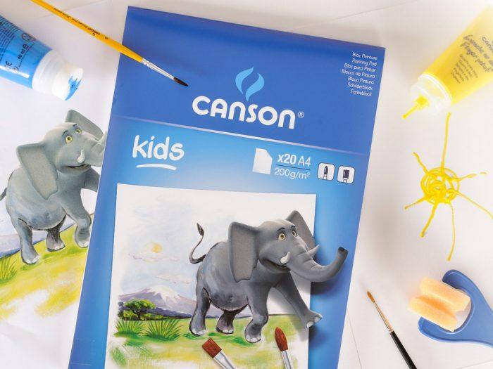 Piešimo bloknotas Canson Kids 200g