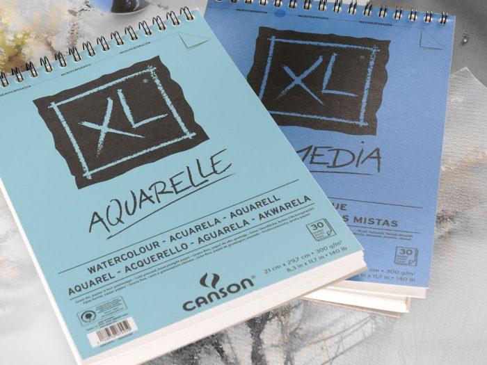 Akvarellplokk Canson XL Aquarelle - 1/2