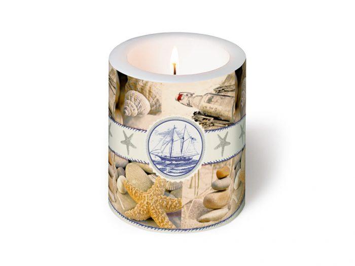 Žvakė Paper+Design apvali d=9cm h=10cm