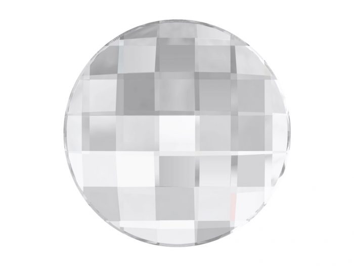 Crystal fancy stone Swarovski Flat Back No Hotfix round chessboard 2035 10mm - 1/2