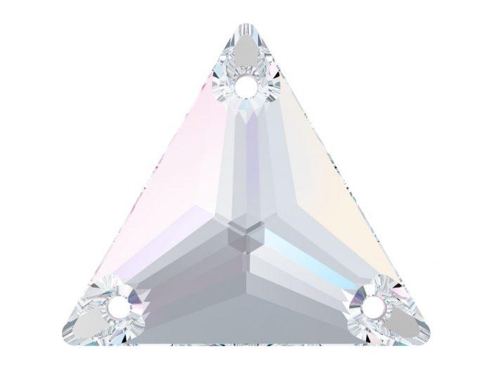 Krištolo karoliukai siuvinėjimui Swarovski trikampis 3270 16mm - 1/2