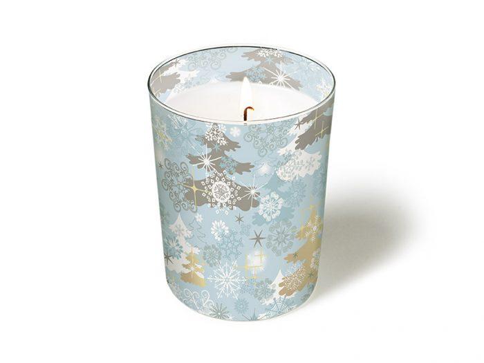 Küünal klaasiga Paper+Design ümmargune d=8.5cm h=10cm talv/jõulud
