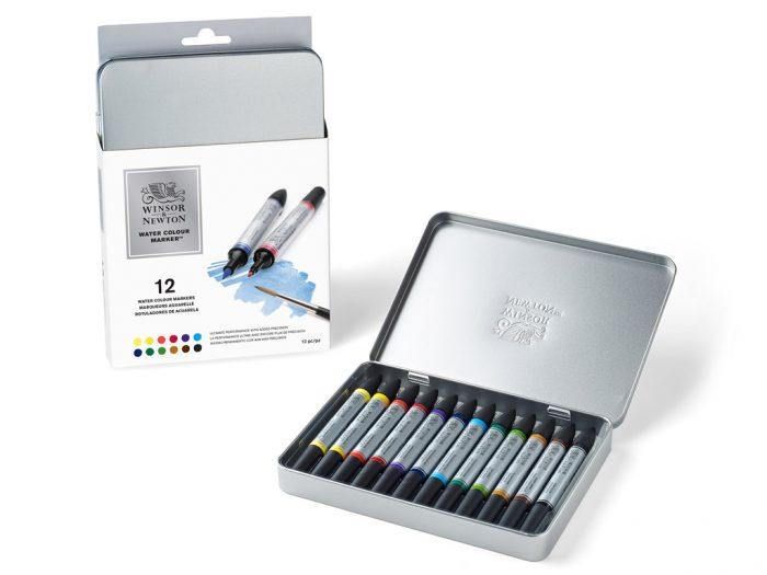 Akvarelinis markeris Winsor&Newton rinkinys metalinė dėžutė - 1/4