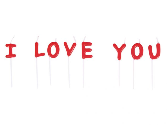 Žvakė tortui Rayher I Love You - 1/2