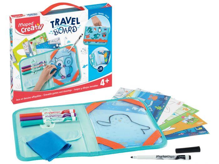 Piešimo rinkinys su lenta Maped Creativ Travel Board Animals - 1/6