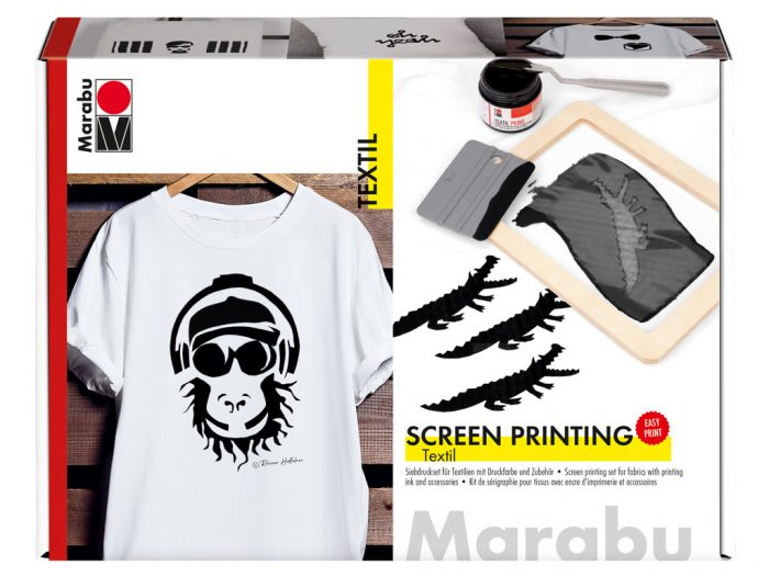 Screen printing set for fabric Marabu - 1/6