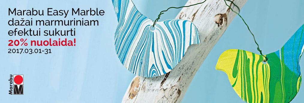 Dažai marmuriniam efektui sukurti Marabu Easy Marble