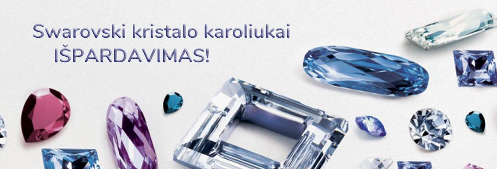 Swarovski kristalo karoliukai išpardavimas